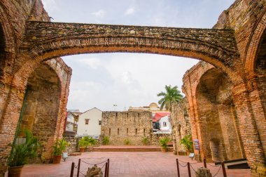 Arco Chato in historic old town in Panama city