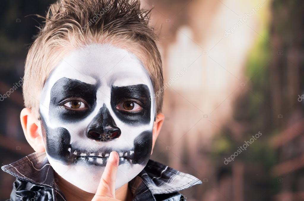Kafatası Makyaj Korkunç Küçük çocuk Stok Foto Pxhidalgo 84102102