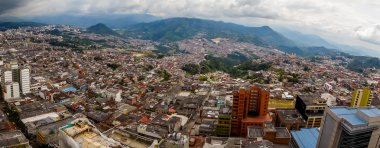 Panorama view of Manizales city in Colombia