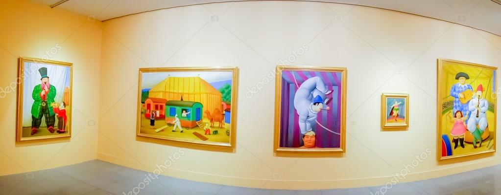 The Circus, painting exhibition by Fernando Botero in the Antioquia ...