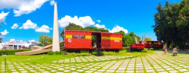 SANTA CLARA, CUBA - SEPTEMBER 08, 2015: This train packed with government soldiers was captured by Che Guevaras forces during the revolution.