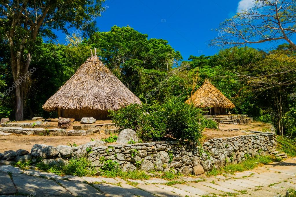 Traditional house of Kogi people, indigenous ethnic group, Colombia