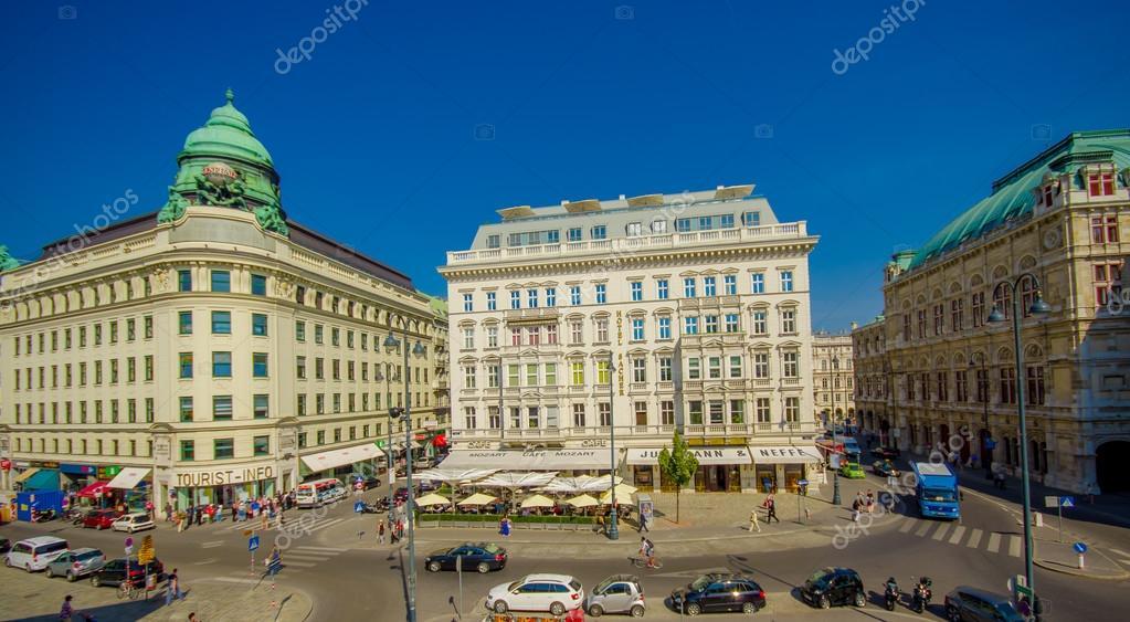 Wien Osterreich 11 August 2015 Schone Aussicht Uber Die Strasse