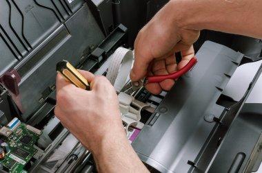 Maintenance and repair of the printer