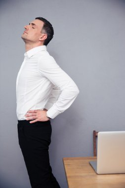 Businessman having backache