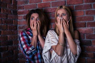 Two scread woman