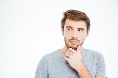 Porptrait of a pensive casual man