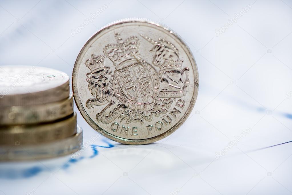 Britische Pfund Münze Mit Blur Hintergrund Stockfoto Merc67