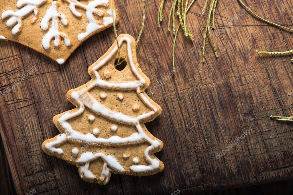 Albero Di Natale Fatto Con I Biscotti.Biscotti Di Natale Fatti In Casa Per Essere Appesi Con Albero Di