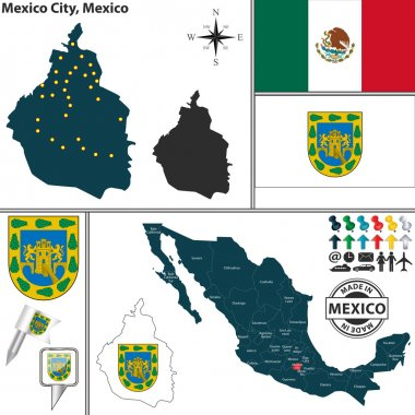 Map of Mexico City, Mexico