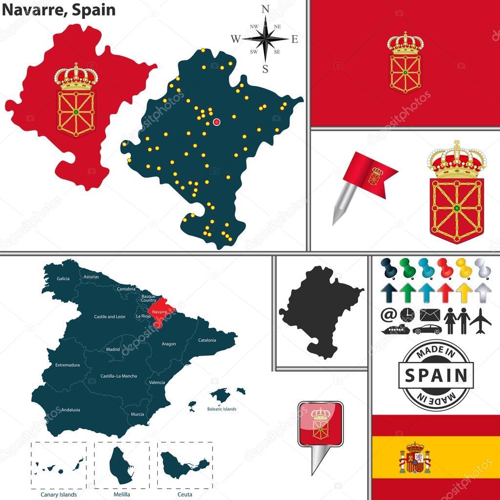 navarra espanha mapa Mapa de Navarra, Espanha — Vetores de Stock © sateda #64323011 navarra espanha mapa