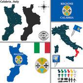 Fotografia Mappa di Calabria, Italia