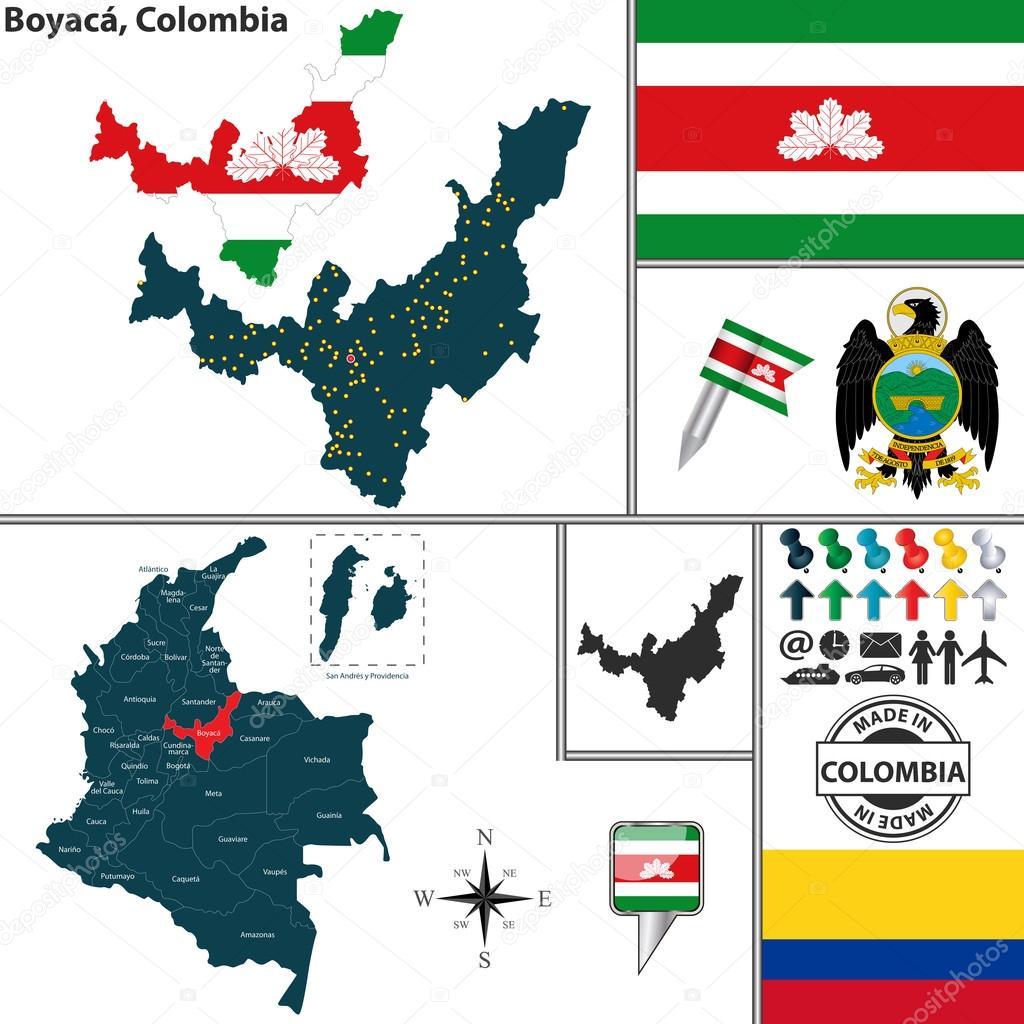 コロンビア ・ ボヤカ県の地図 —...