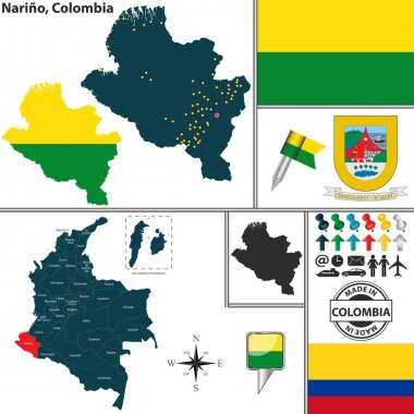 Map of Narino, Colombia