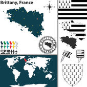 Photo Map of Brittany, France
