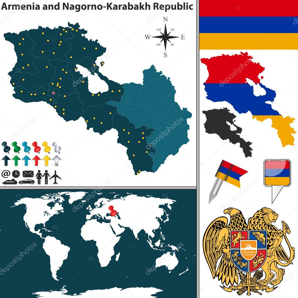 Map Of Armenia And Nagorno Karabakh Stock Vector C Sateda 82747664