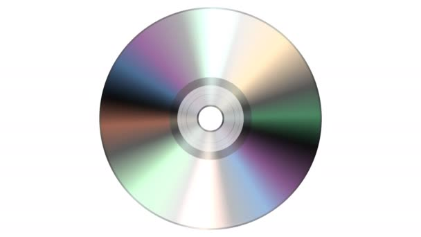 Single Disc CD DVD isoliert auf weißem Hintergrund.