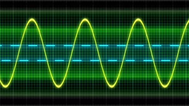 nahtlose Looping-Animation Oszillogramm Sinuswellen