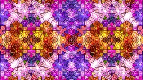 barvitý abstraktní barevné hudební mozaiku kaleidoskop video 3d bezešvá smyčka cyklus
