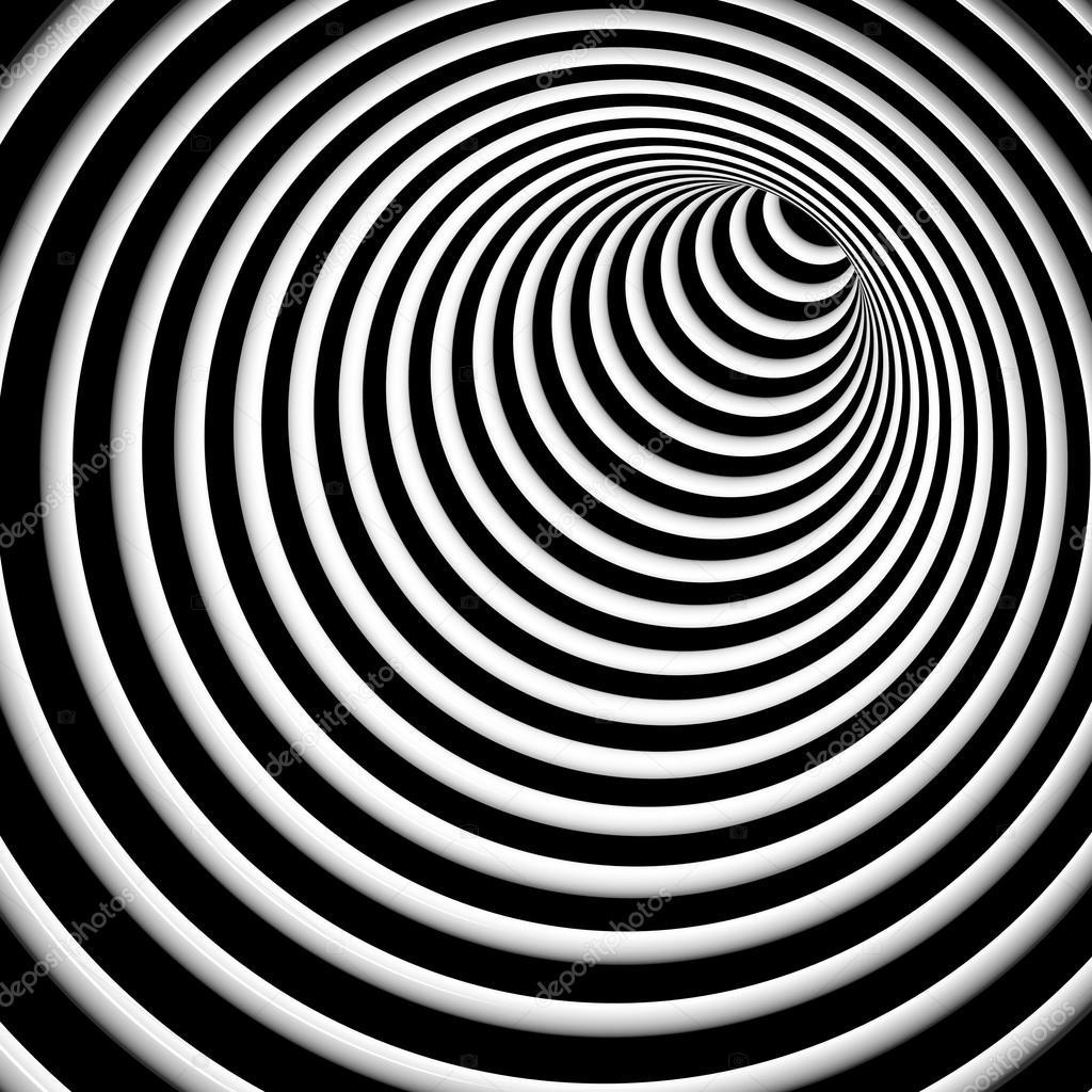 Símbolo De Hipnosis Blanco Y Negro