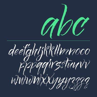 Alphabet letters: lowercase. Vector alphabet. Hand drawn letters. Letters of the alphabet written with a colapen