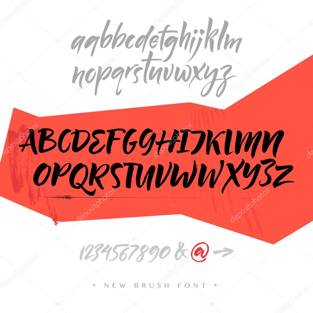Alphabet Letters Lowercase Uppercase And Numbers Vector Alphabet