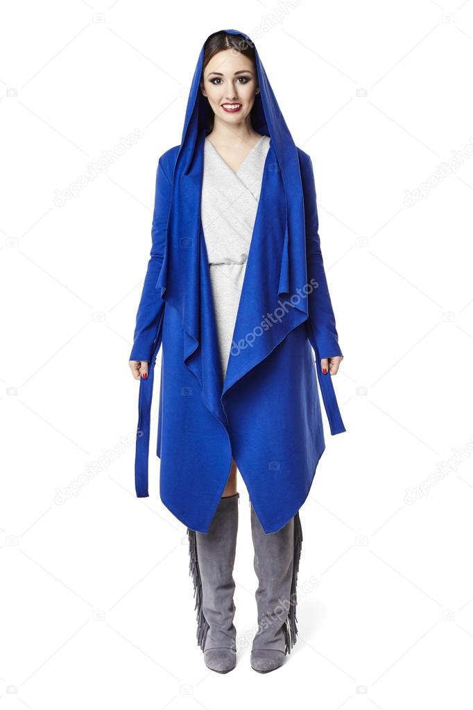 Con Mujer Azul Abrigo Abrigo Mujer Con Mujer Mujer Abrigo Azul Con Azul zZwx4qFwHO