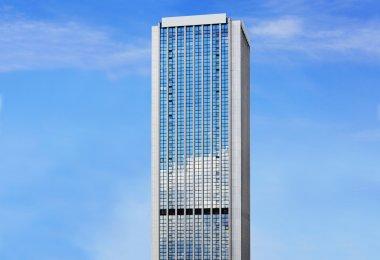Tower on sunny sky