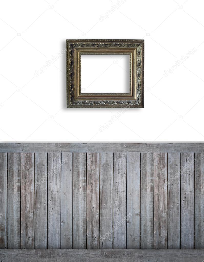 Fondo blanco con beadboard oscuro — Foto de stock © Sandralise #68781703
