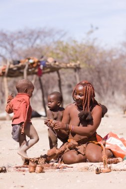 Himba mother and children