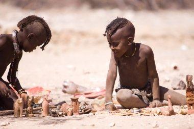 Himba children in native village