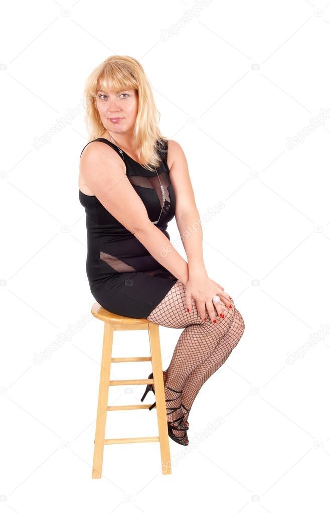 Stock e calze Foto Donna nero 124180820 abito in © sucher tFxq4Y