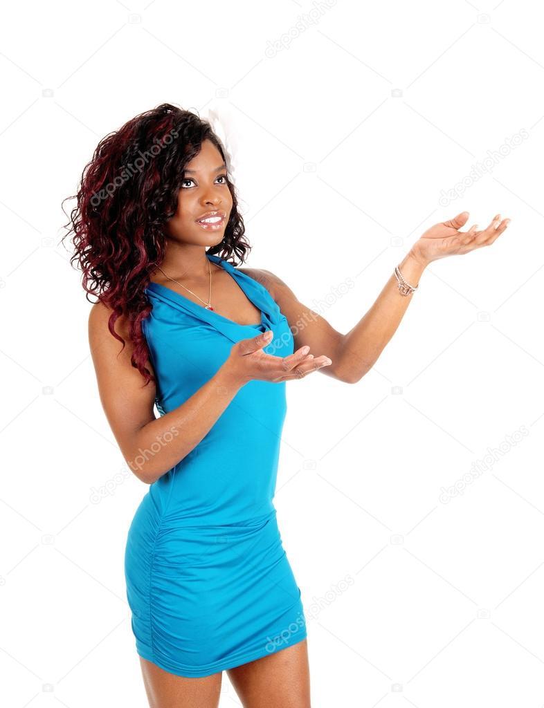 Femme Noire De Robe Permanent Bleu c3Rj4Lq5AS