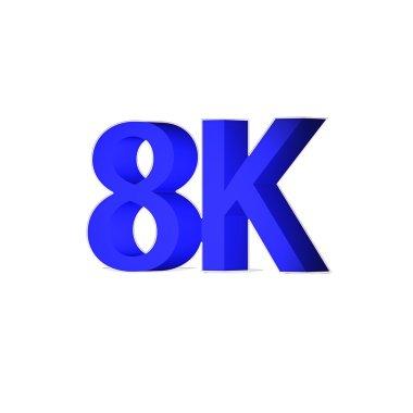 Ultra HD 8K 3d icon