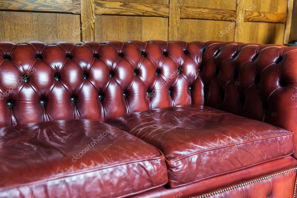 Close Up Of Vintage Leather Sofa Stock, Vintage Leather Sectional Sofa