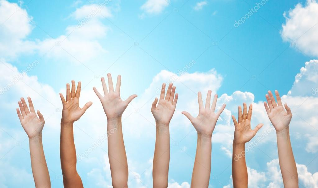 People waving hands — Stock Photo © Syda_Productions #71193523