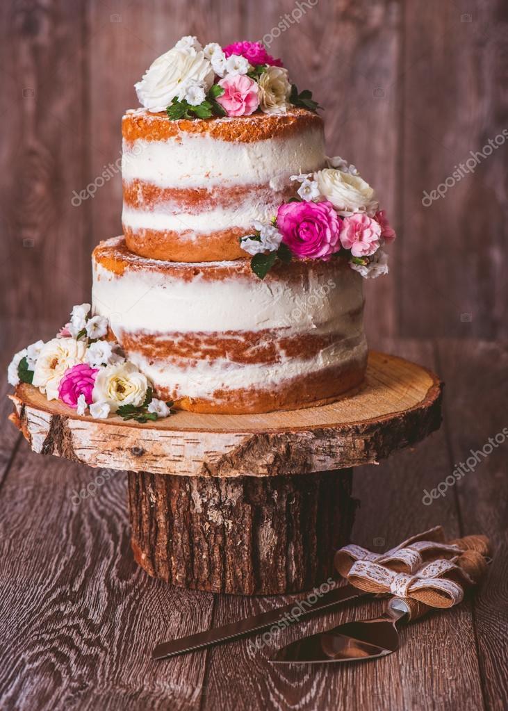 Twolayered Wedding Cake Stock Photo Anatols 104804412 - Layered Wedding Cake