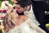 Fényképek A csókolózó pár házasság portréja