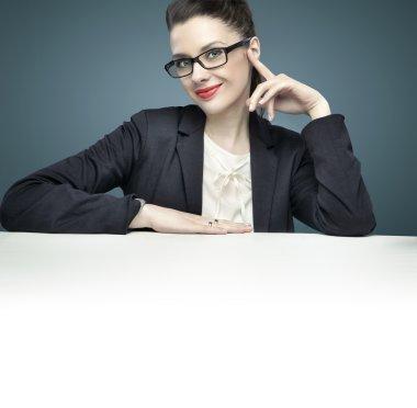 Portrait of an elegant female manager