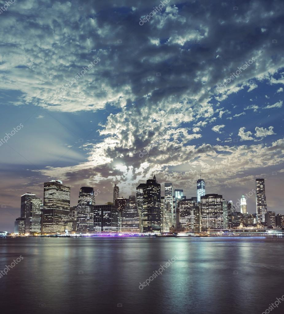 Beautiful new york city manhattan view stock photo for New york city beautiful
