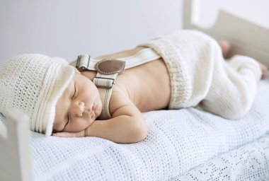 Portrait of a sleeping baby
