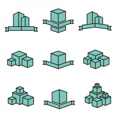 Set of vector real estate house logo designs -variable line-