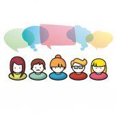 Skupina lidí komunikace ilustrace