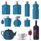 Fotografie Bottle collection - vector