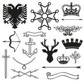 Fotografie Heraldic symbols and elements