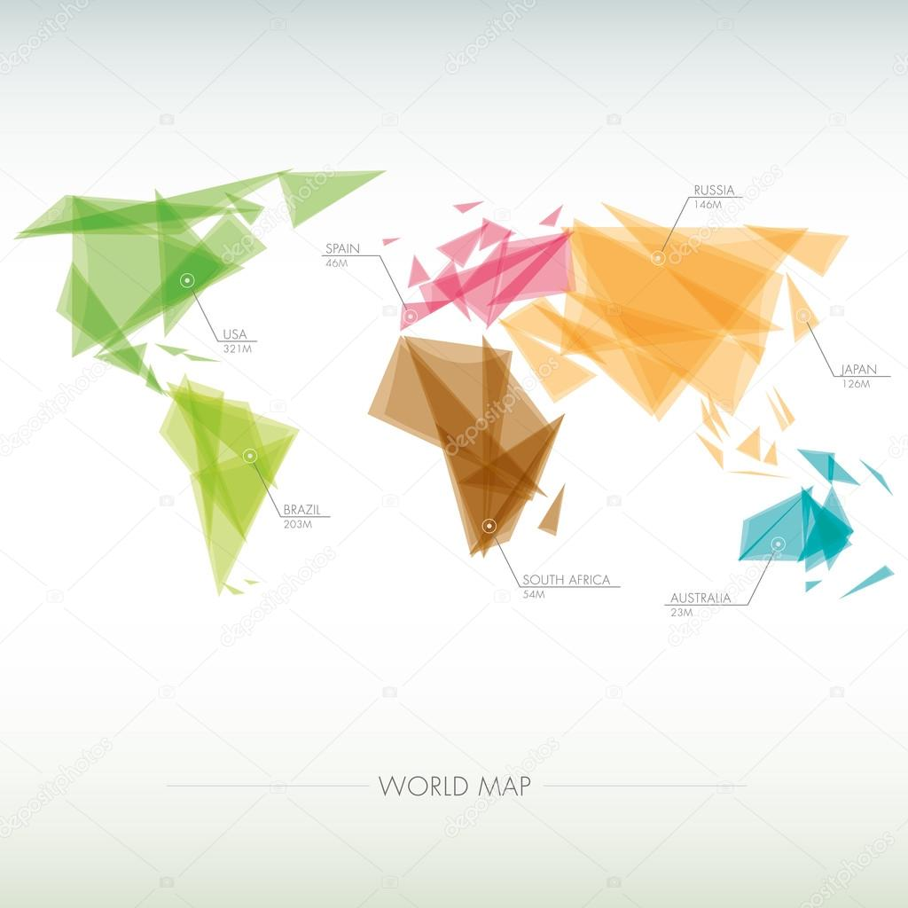 Mapa geomtrico del mundo vector de stock alvaroc 67135675 mapa geomtrico del mundo vector de stock gumiabroncs Choice Image