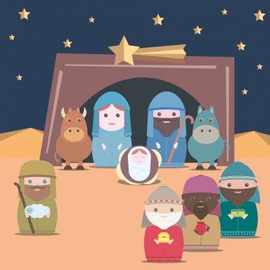 Vector Nativity christian birth
