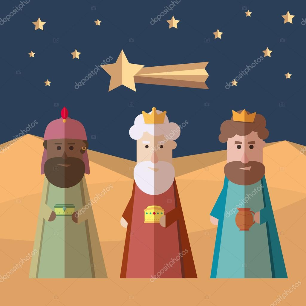 The three Kings of Orient, wise men, 3 magi