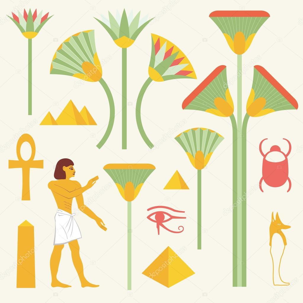 Egyptian Symbols And Signs Stock Vector Alvaroc 98889508