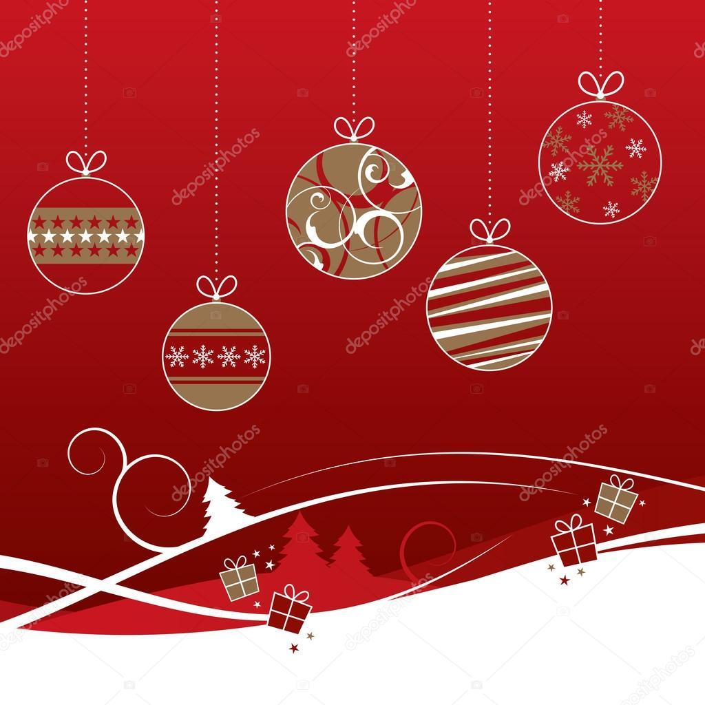 Weihnachtskugeln Rot Gold.Weihnachtskugeln Rot Und Gold Stockvektor Rach27 89482794